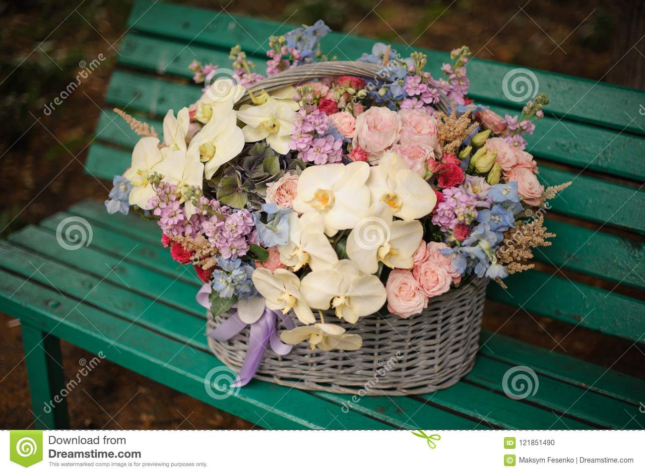 Big beautiful basket of white orchids and different color flower download big beautiful basket of white orchids and different color flower stock photo image of izmirmasajfo