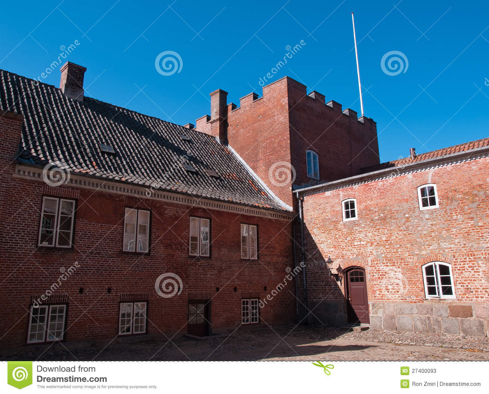 Big Beautiful Mansion House Estate Castle Denmark Stock