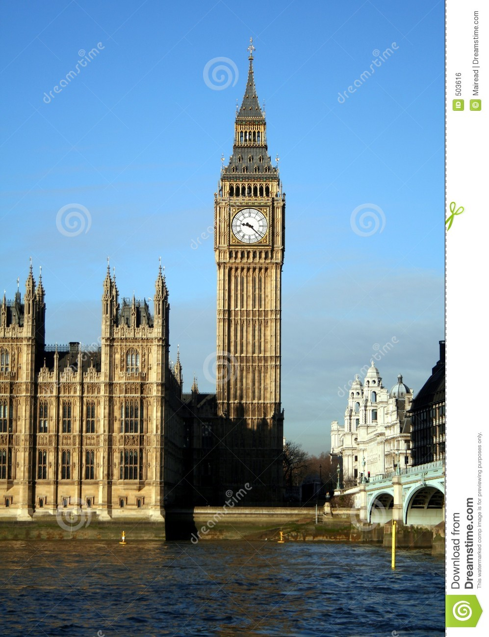 big ben stock photo image of thames scene sunny. Black Bedroom Furniture Sets. Home Design Ideas