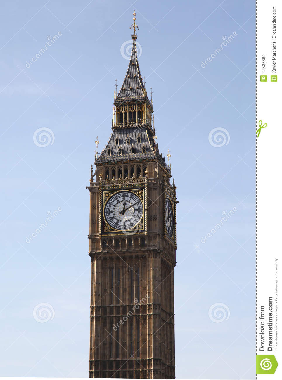 Big Ben Clock Royalty Free Stock Images - Image: 13536689