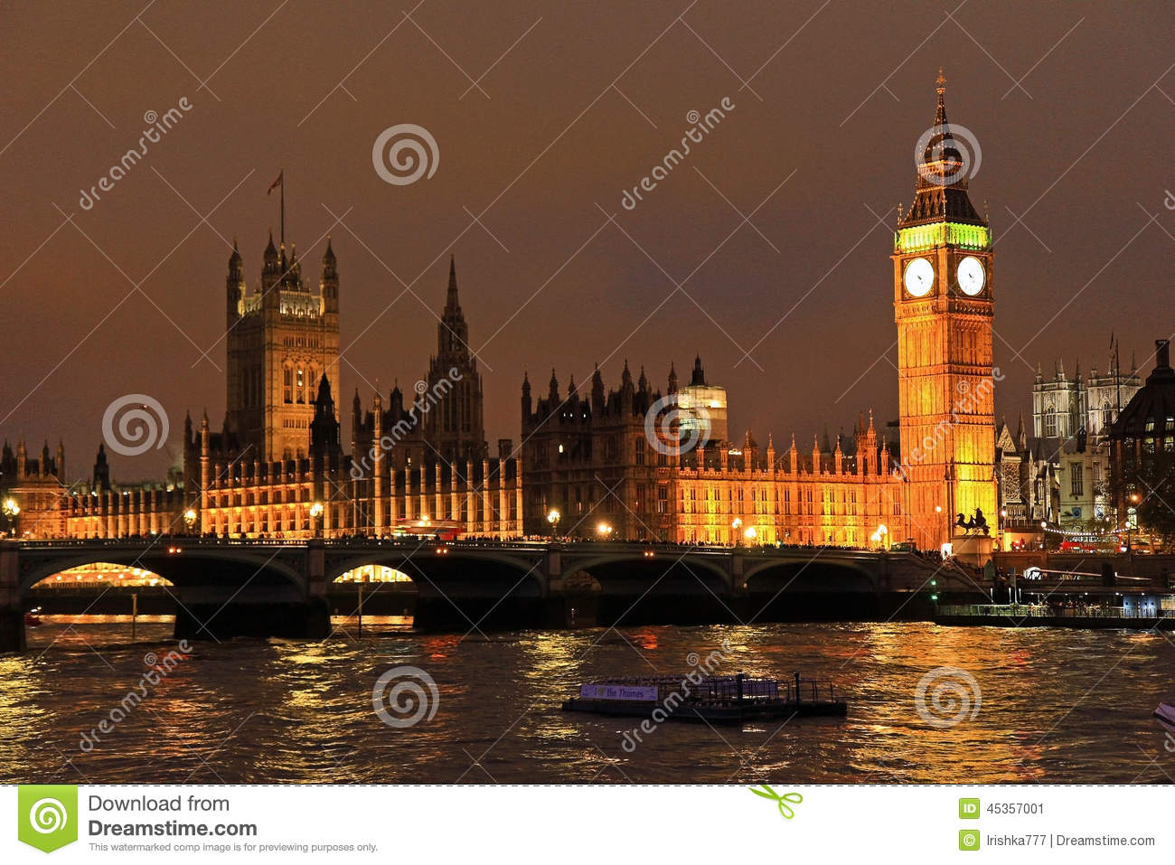 Big Ben de Londres la nuit