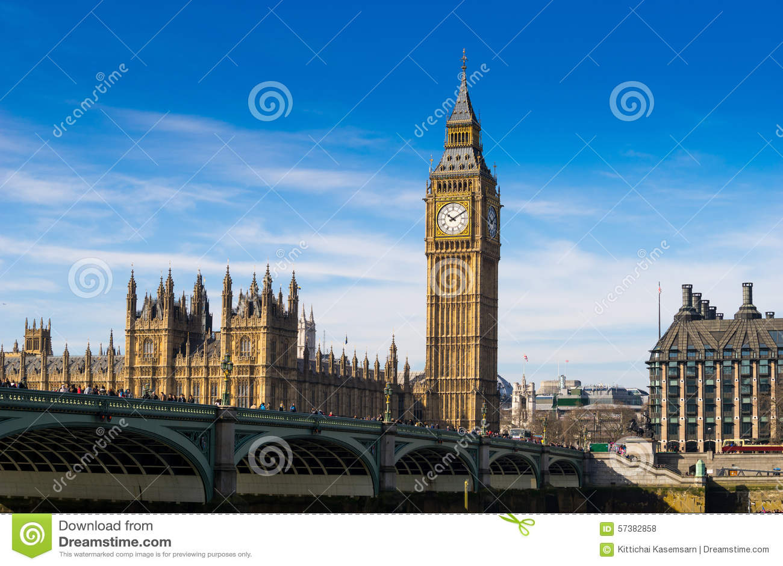 Big Ben en de abdij van Westminster in Londen, Engeland
