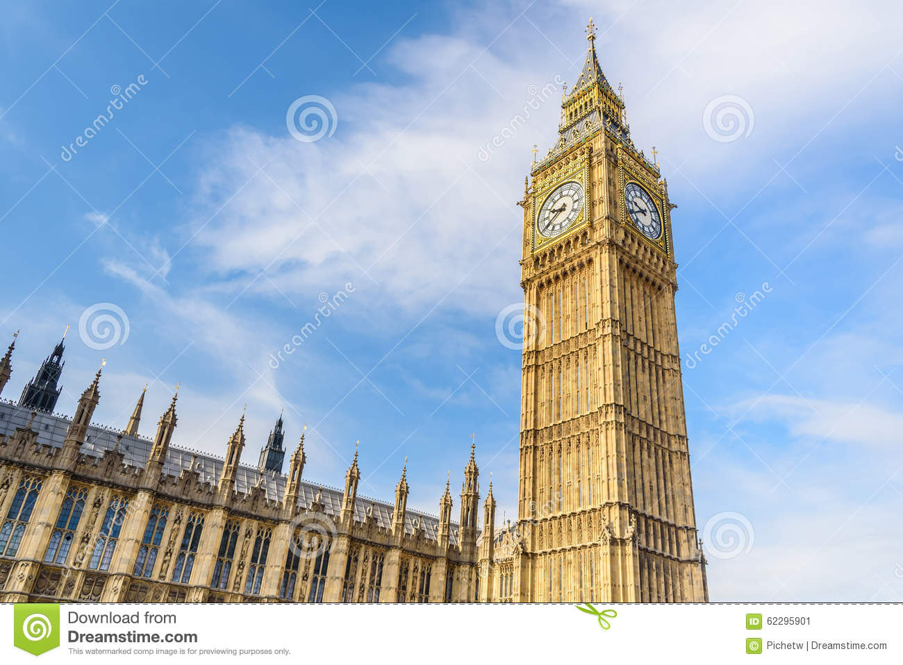 Big Ben And House Of Parliament London Uk Stock Image Image Of