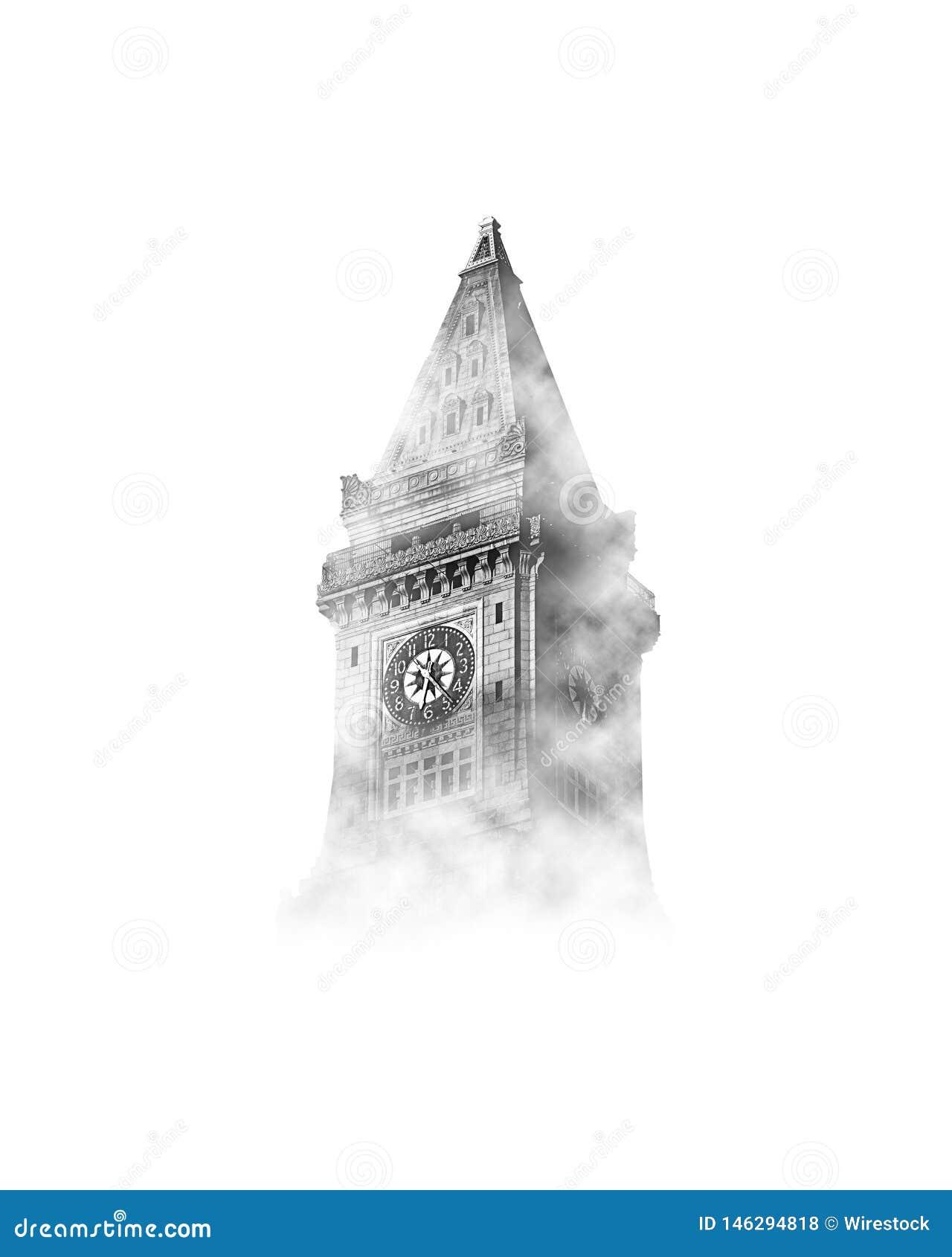 Big Ben i himlen med moln