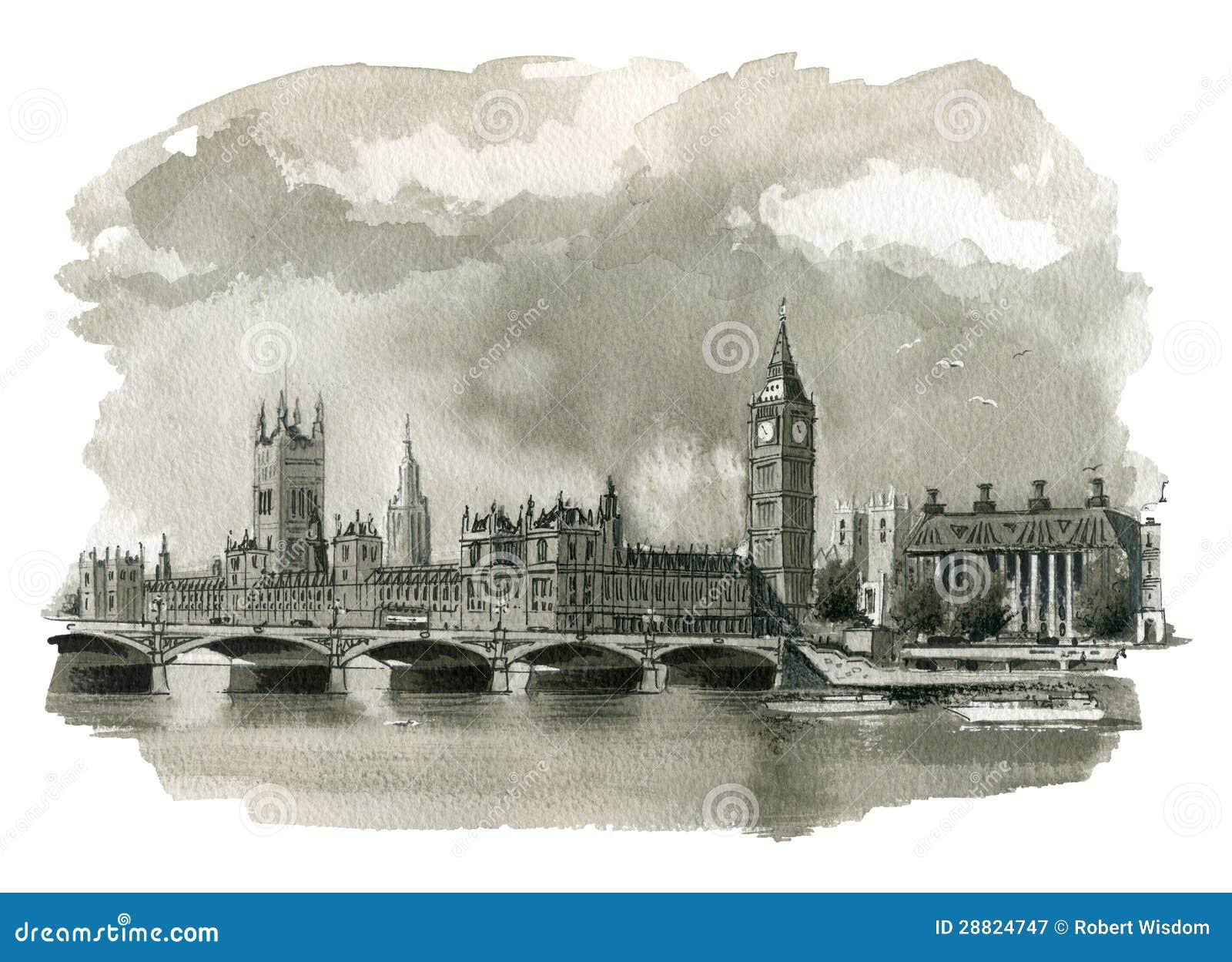 Vector illustration of london city 2 royalty free stock photography - Big Ben Illustration Royalty Free Stock Photography