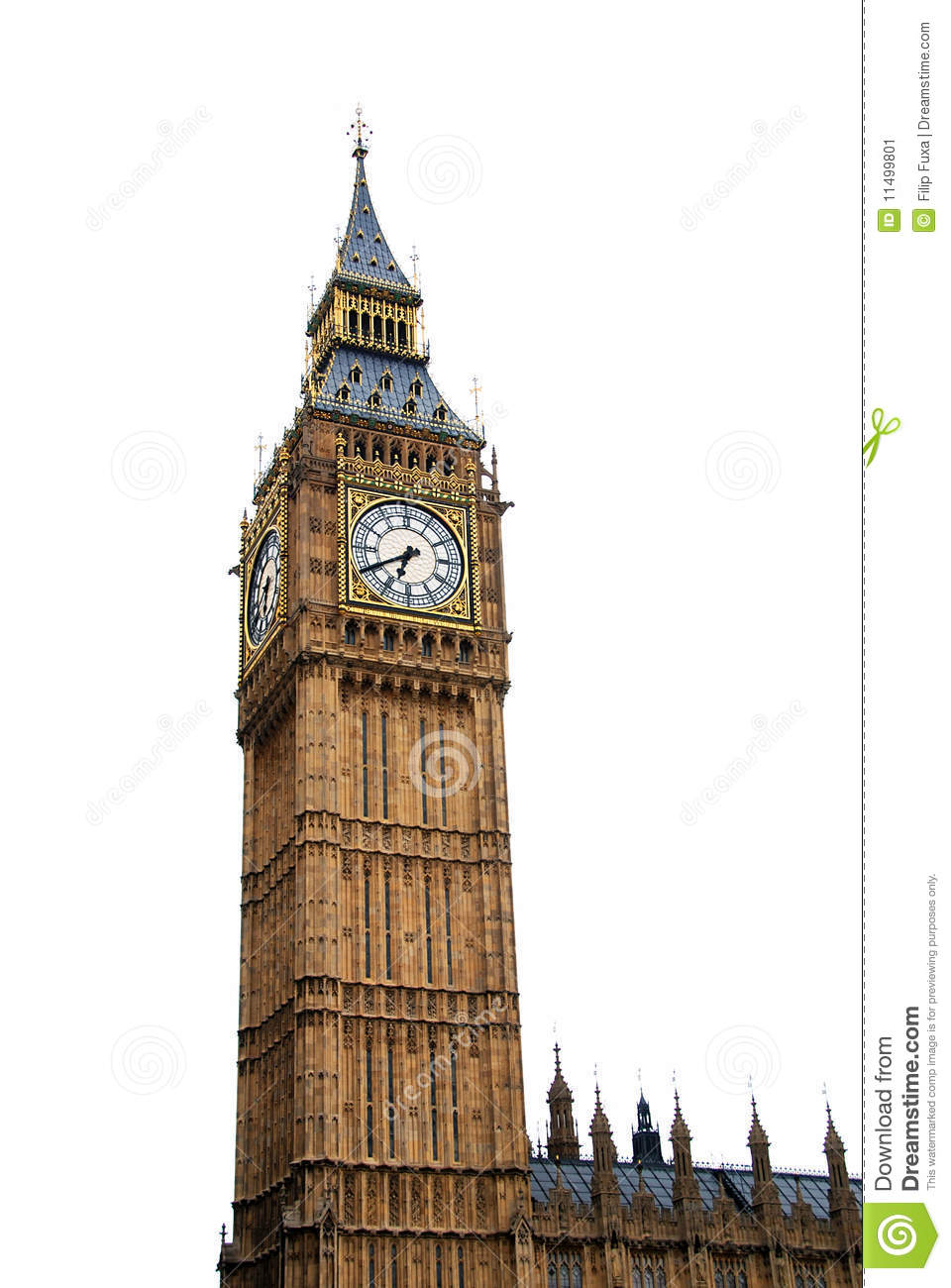 Big Ben isolated