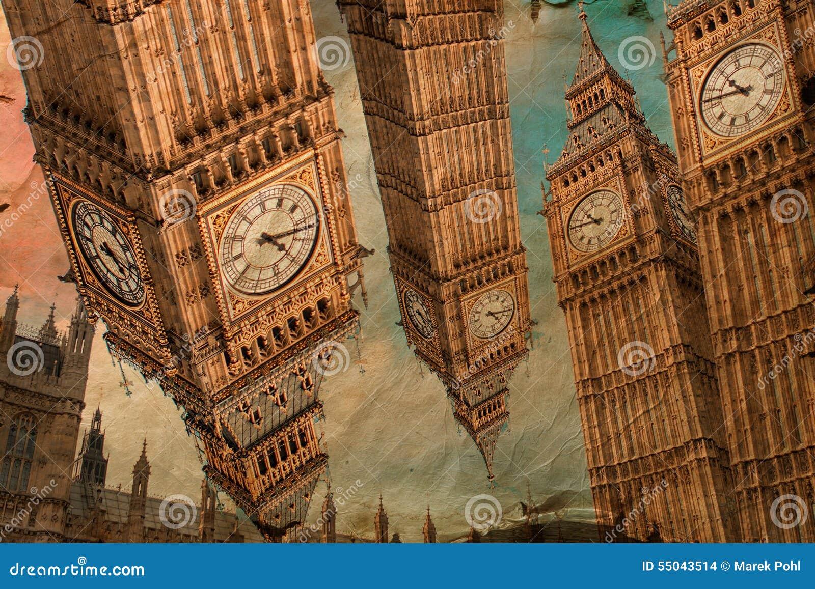Big Ben London Digital Art Stock Photo Image 55043514