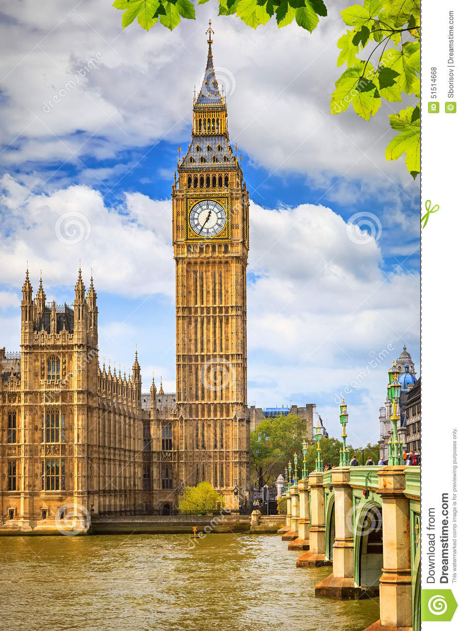 big ben in london stock photo image 51514668. Black Bedroom Furniture Sets. Home Design Ideas