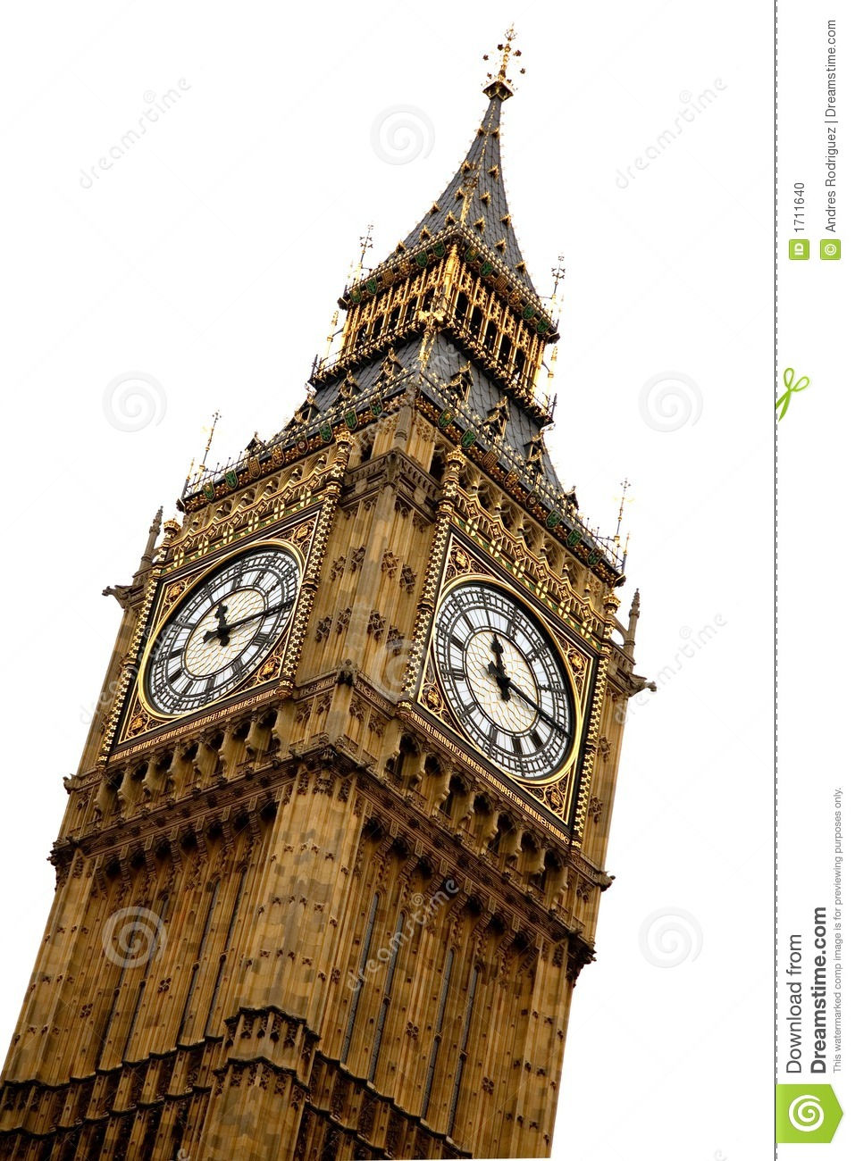 Big Ben Over White Stock Photo Image Of Sightseeing