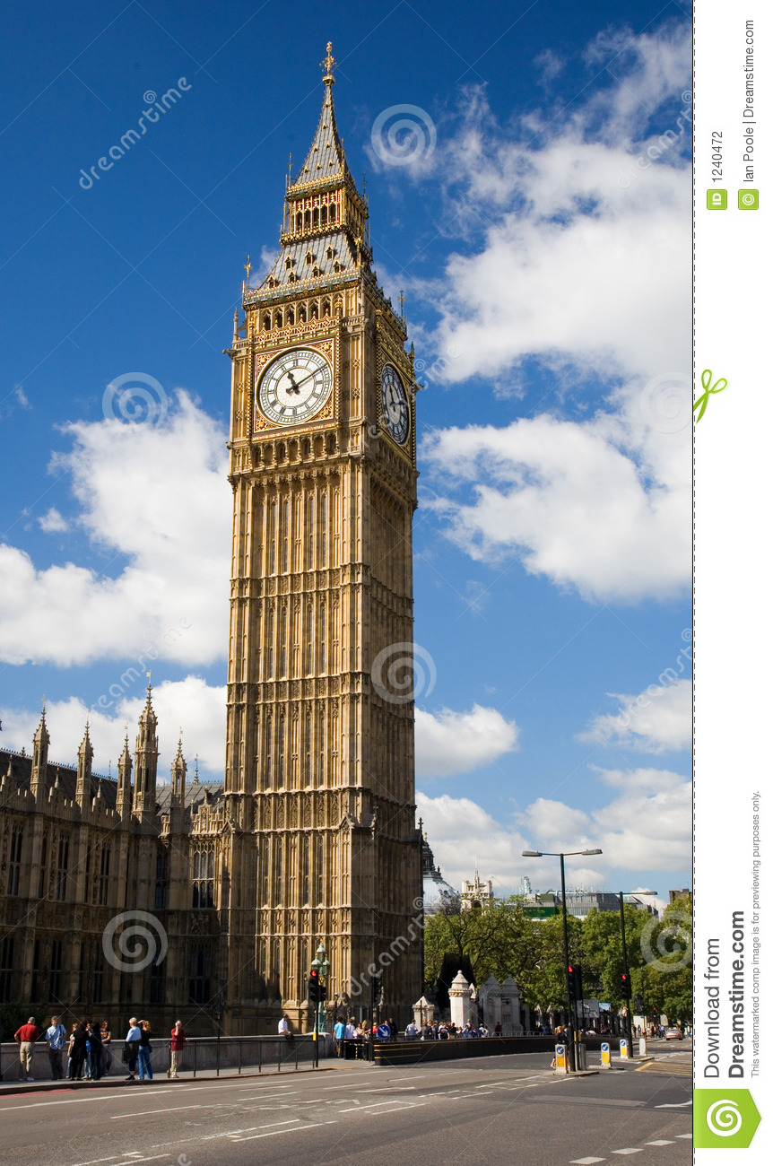 St Stephen's Tower (commonly called Big Ben) from the Houses of ...