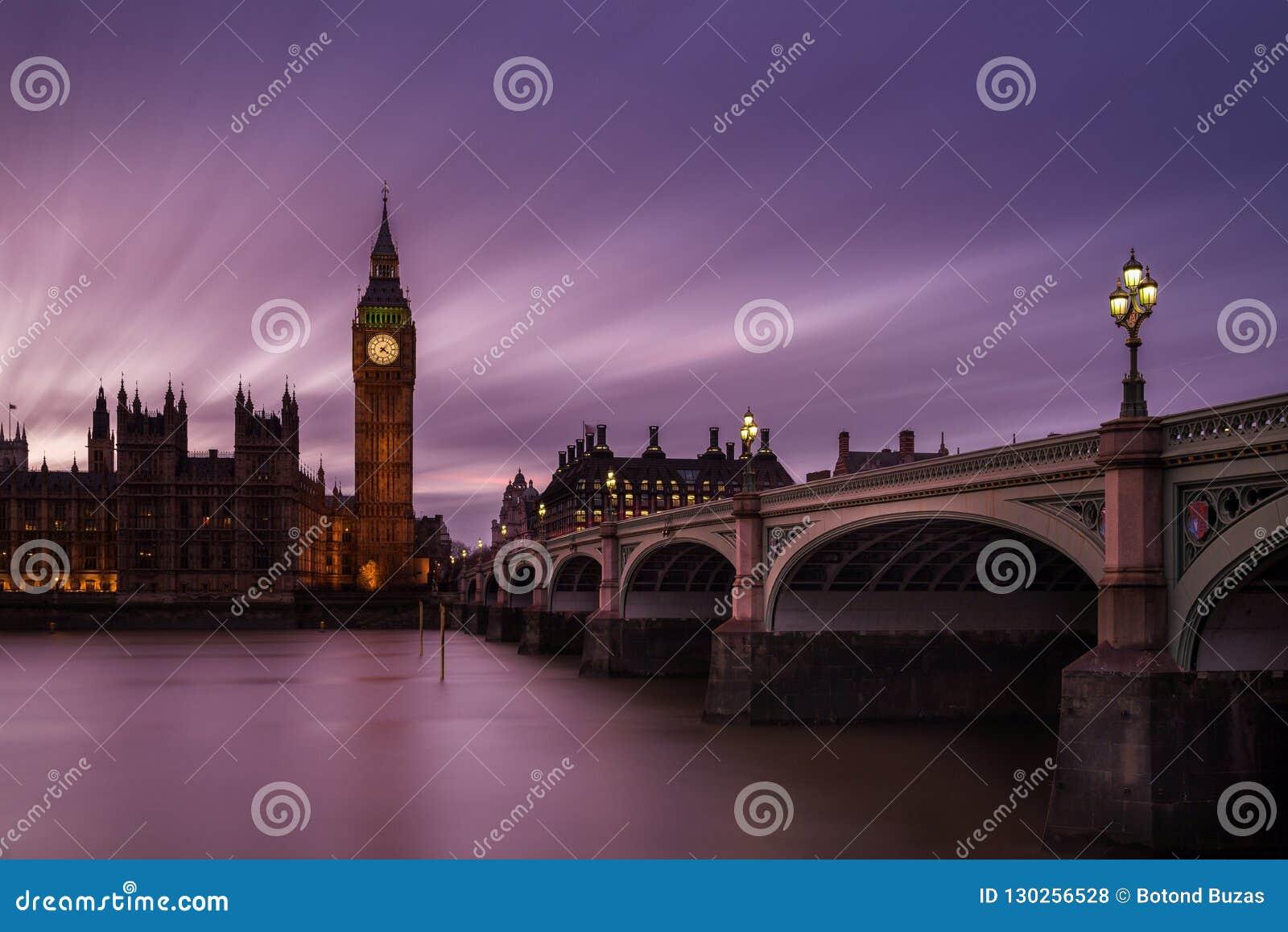Big Ben at twilight London