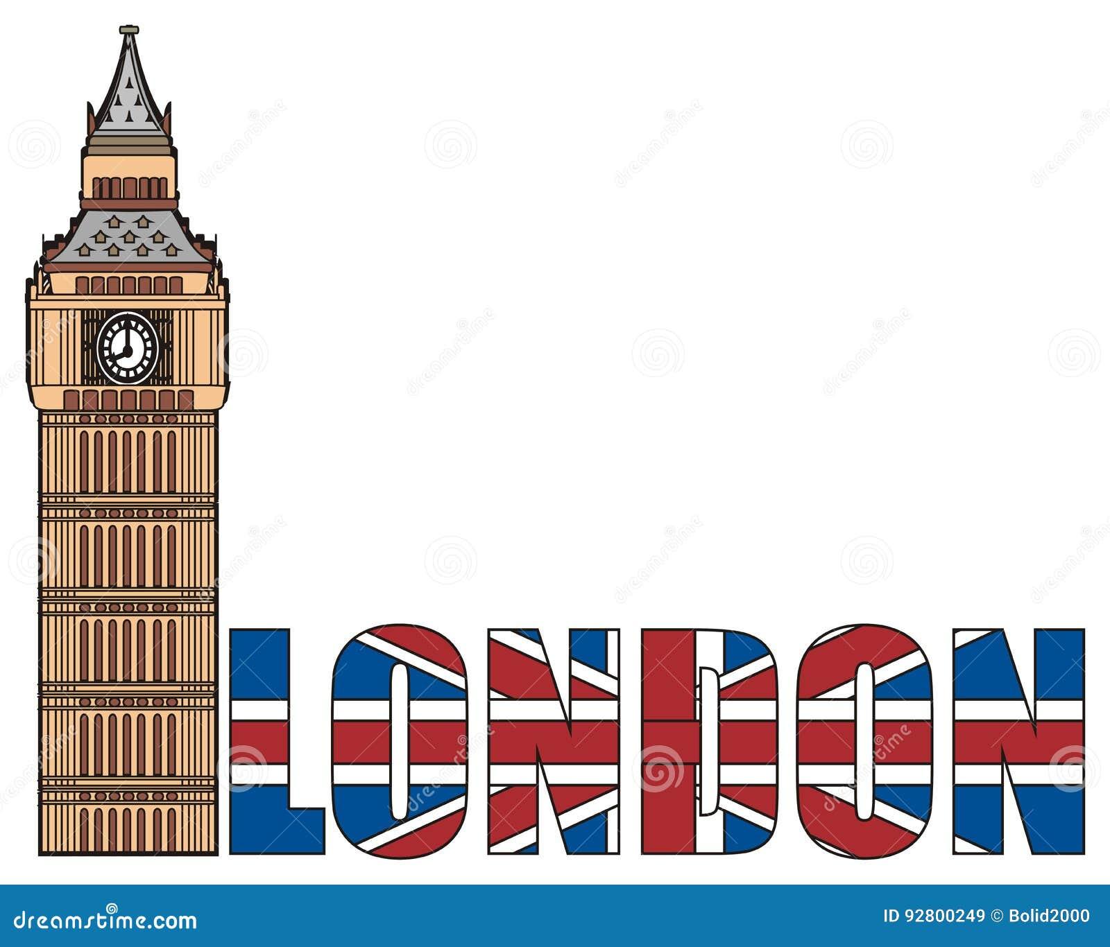 big ben tower with word stock illustration illustration of english rh dreamstime com big ben clipart images big ben clipart free
