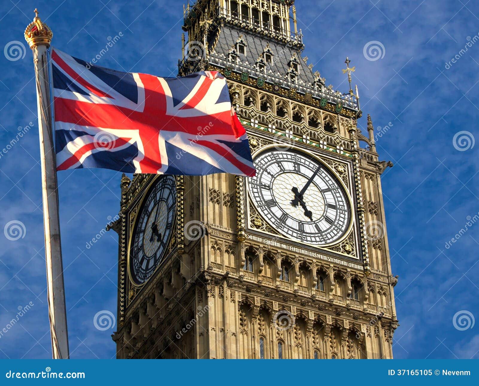 Big Ben and Union Jack