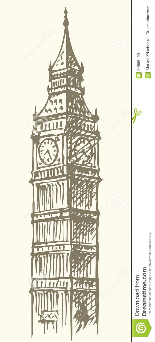 big ben doodle - photo #8