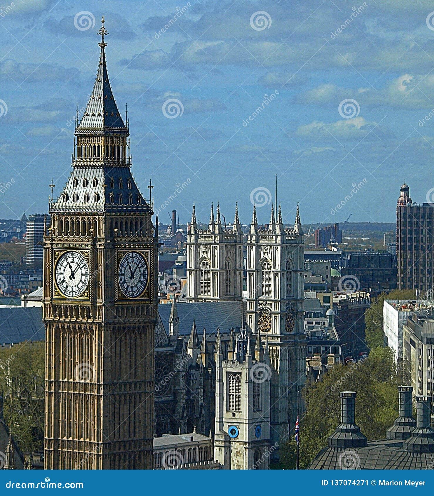 Big Ben y la ciudad de Londres