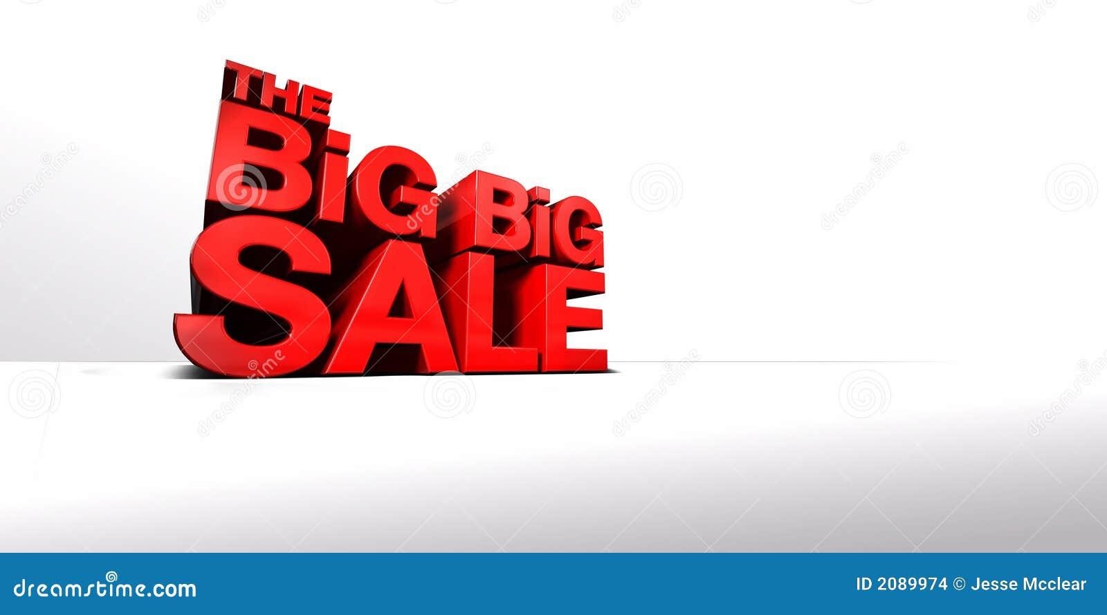 The Big Big Sale Stock Images Image 2089974