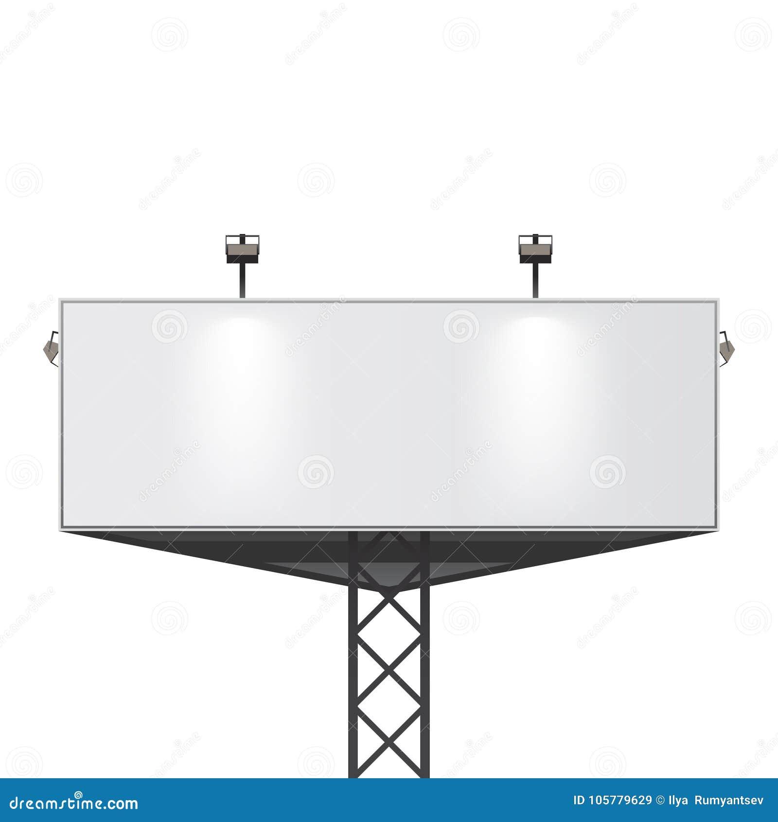 Big Billboard Template Empty Banner For Your Design Stock Vector