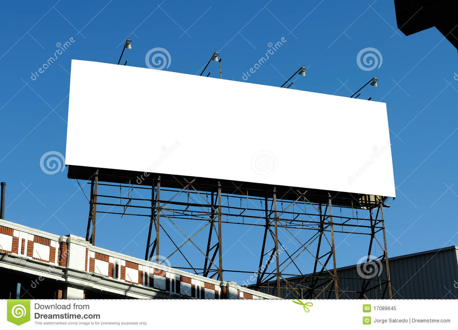 Big Blank Billboard On Building Royalty Free Stock Photo