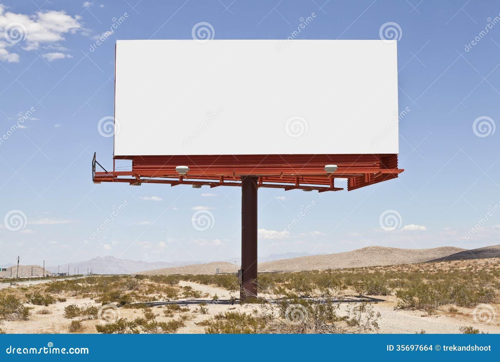 Big blank desert billboard stock photo image of pole 35697664 big blank desert billboard stopboris Images