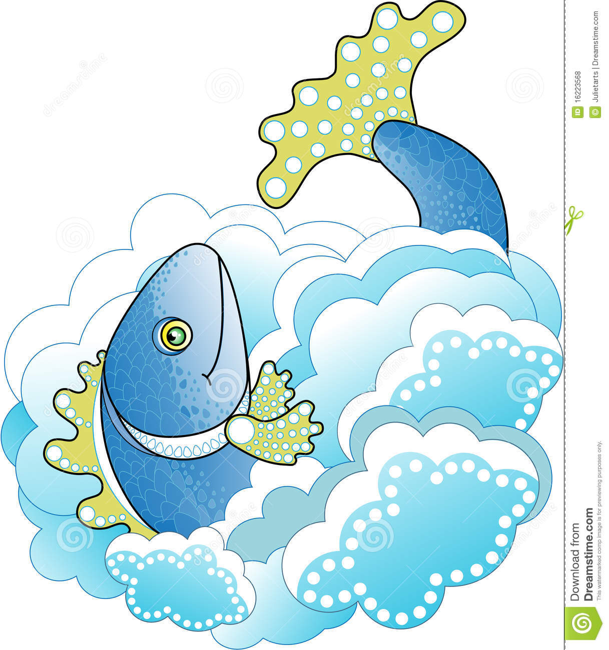 Big Blue Fish In The Sea Royalty Free Stock Photos Image