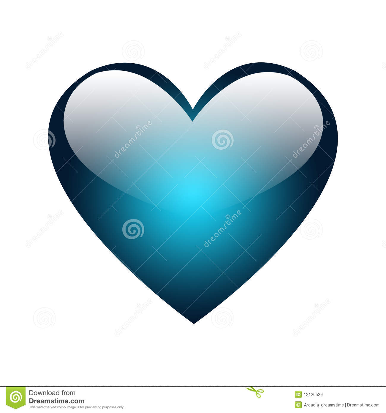 Big Blue Glossy Heart Royalty Free Stock Images - Image: 12120529: becuo.com/blue-heart