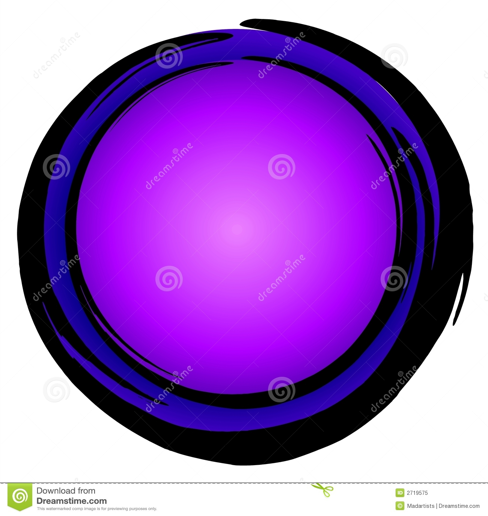 Big Blue Purple Circle Icon Royalty Free Stock Photo