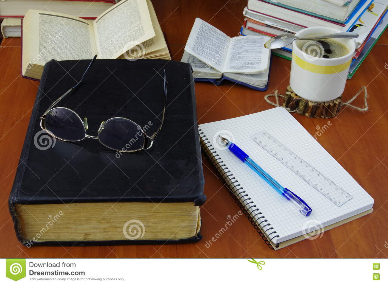 Big book stock photo  Image of notepad, bible, open