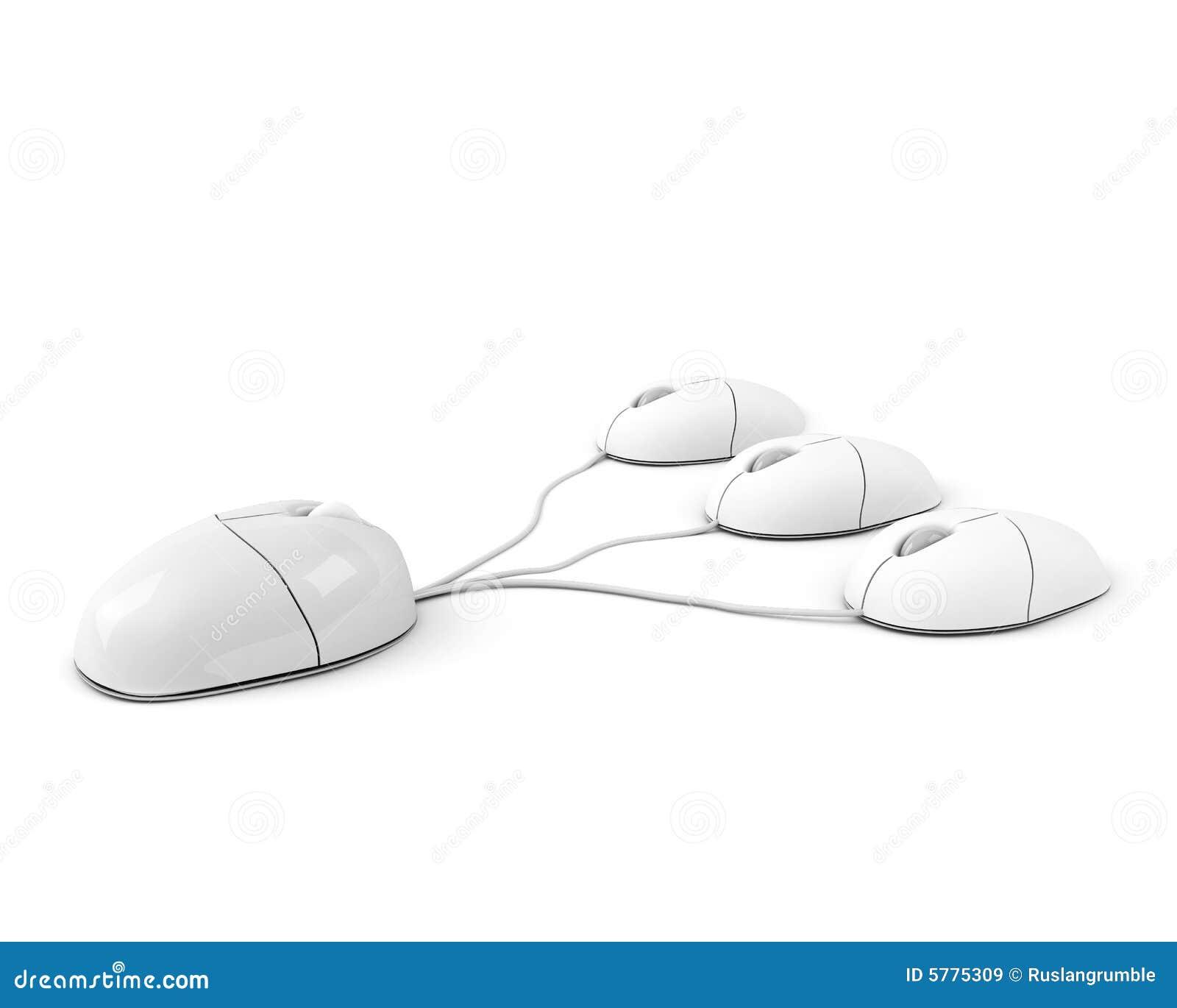 Big boss mouse leading its staff