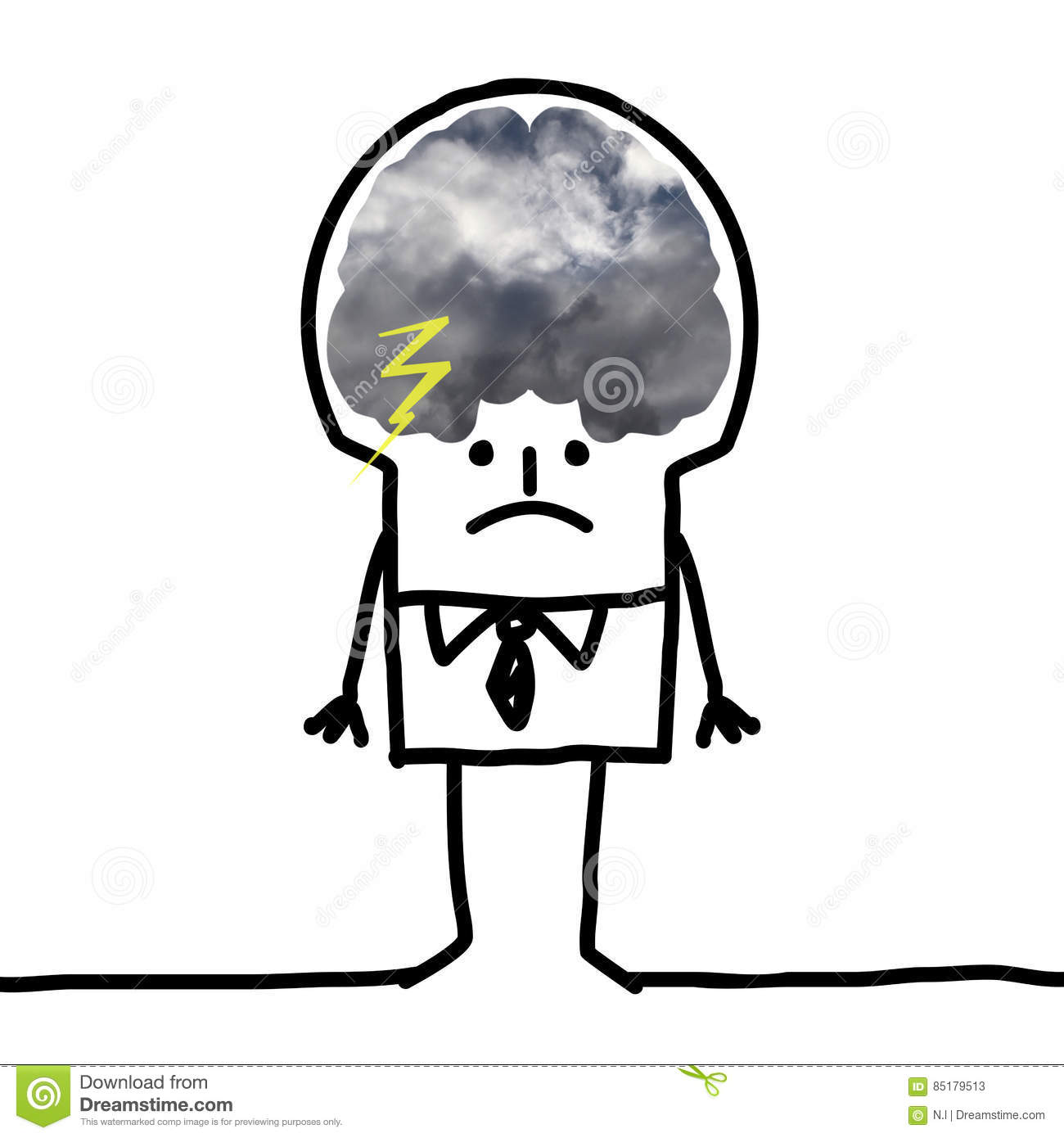 Big brain man pessimism and clouds stock illustration download big brain man pessimism and clouds stock illustration illustration of montage human thecheapjerseys Gallery