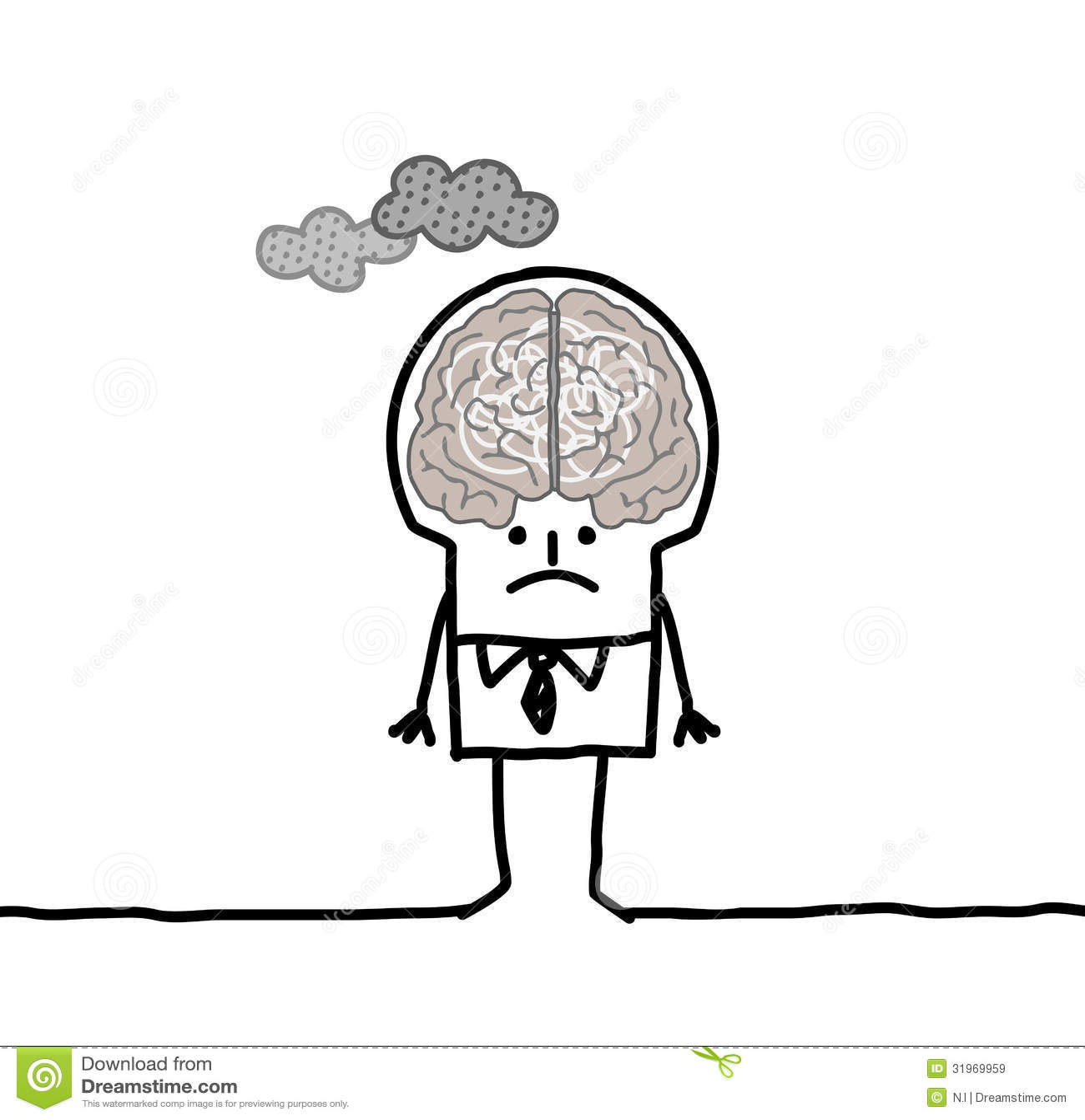 Big brain man pollution stock vector illustration of intoxicated big brain man pollution thecheapjerseys Gallery