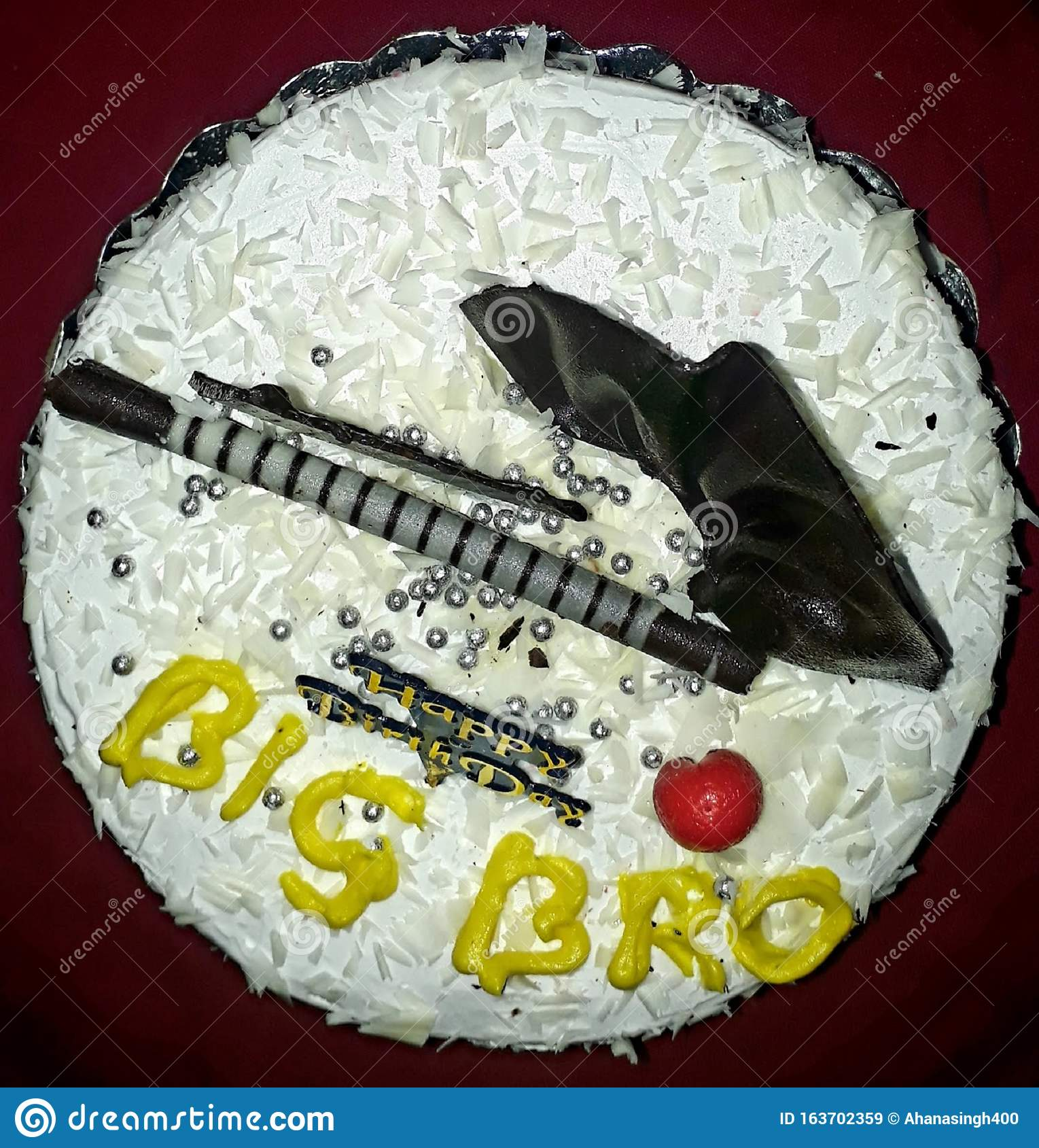 Tremendous Big Bro White Forest Birthday Cake Best Wishes With Chocklate And Funny Birthday Cards Online Alyptdamsfinfo