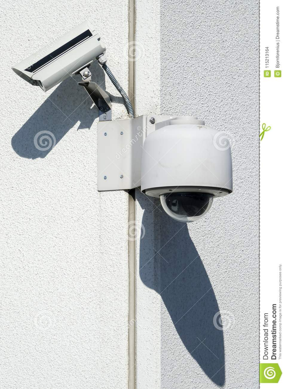 Street security camera. Concept of public security, big brother.