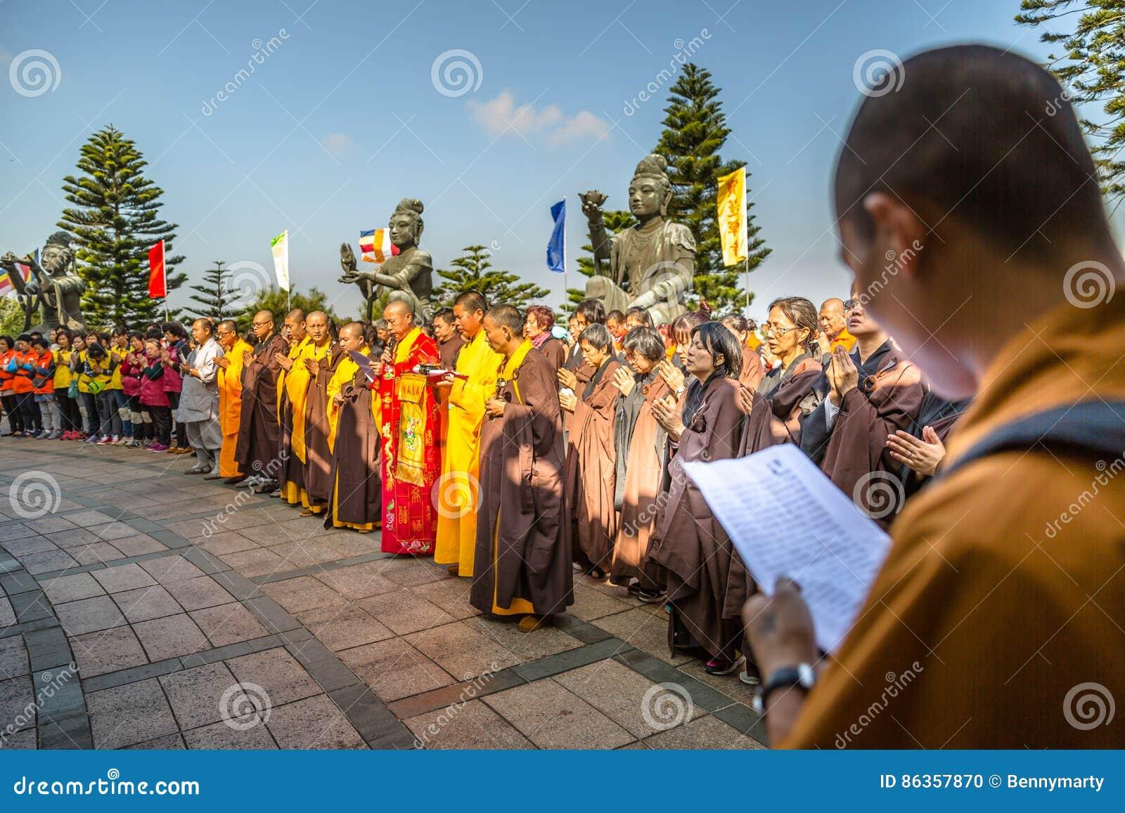 Big Buddha faithful people