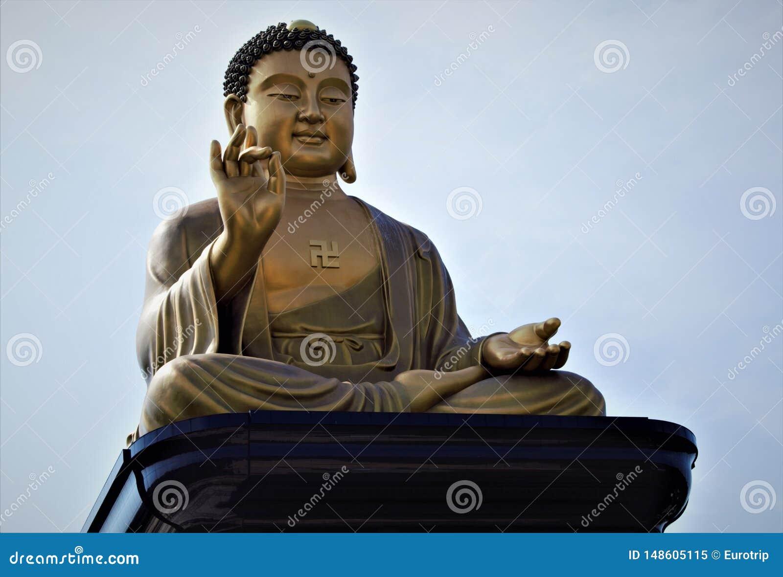 Big Buddha of Fo Guang Shan Buddha Memorial in Kaohsiung, Taiwan