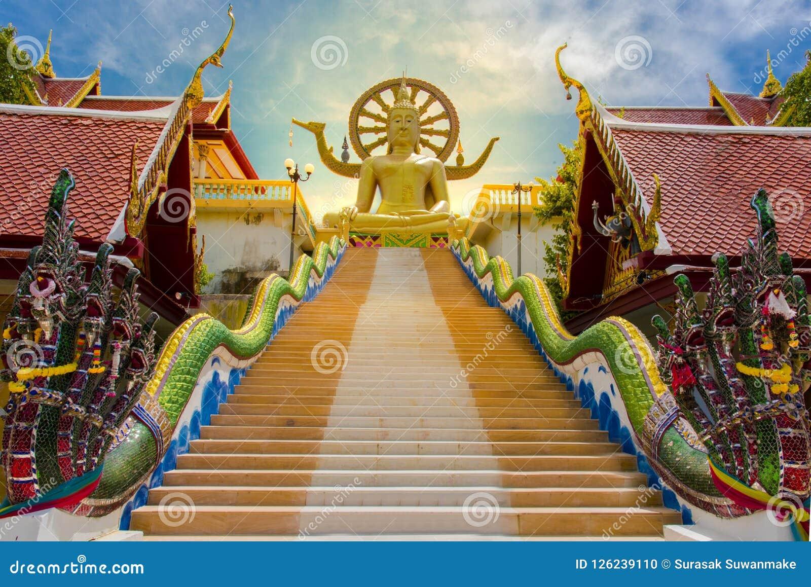 Big Buddha Temple at Koh Samui, Thailand. Beautiful temples