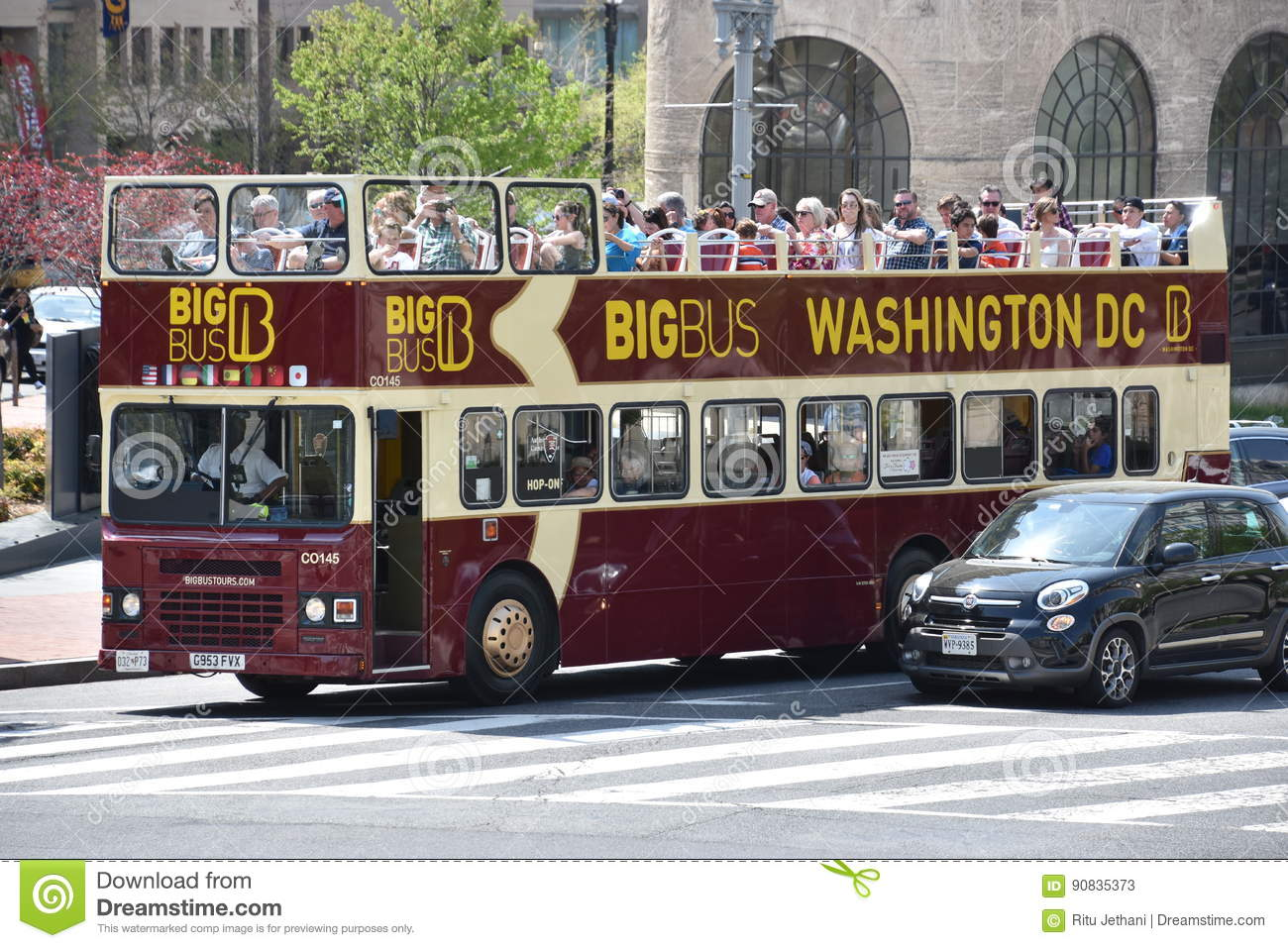 Washington Dc Tour Bus >> Big Bus Tour Bus In Washington Dc Editorial Stock Photo