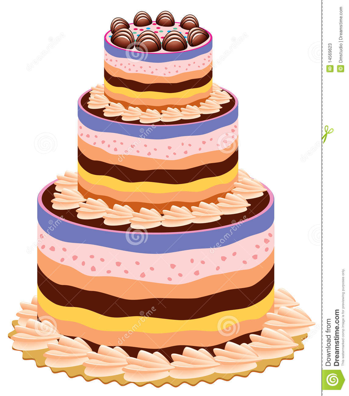 Cake Pictures Big : Big cake stock vector. Image of element, bakery ...