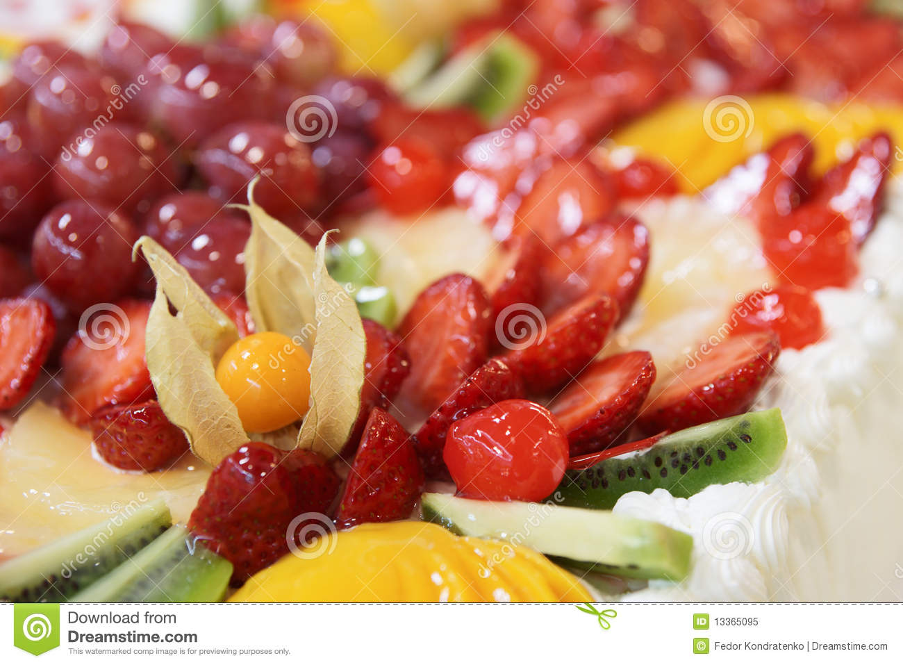 Big Cake Fruit Topping Royalty Free Stock Photo - Image ...
