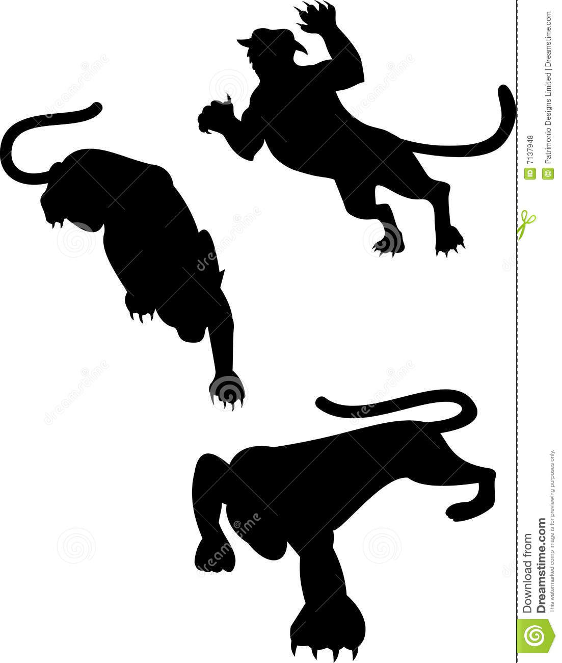 Big Cat Silhouettes Royalty Free Stock Photos Image 7137948