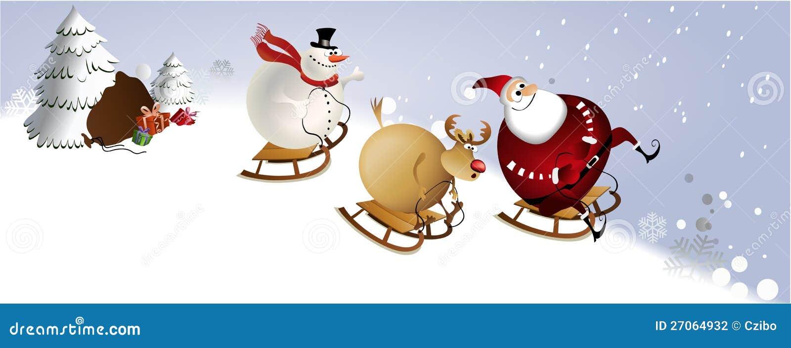 Santa claus enjoying his christmas presents