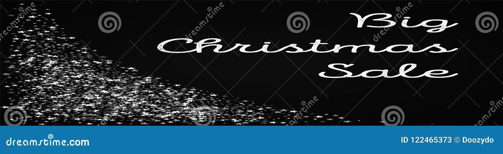 big christmas sale greeting card stock vector illustration of