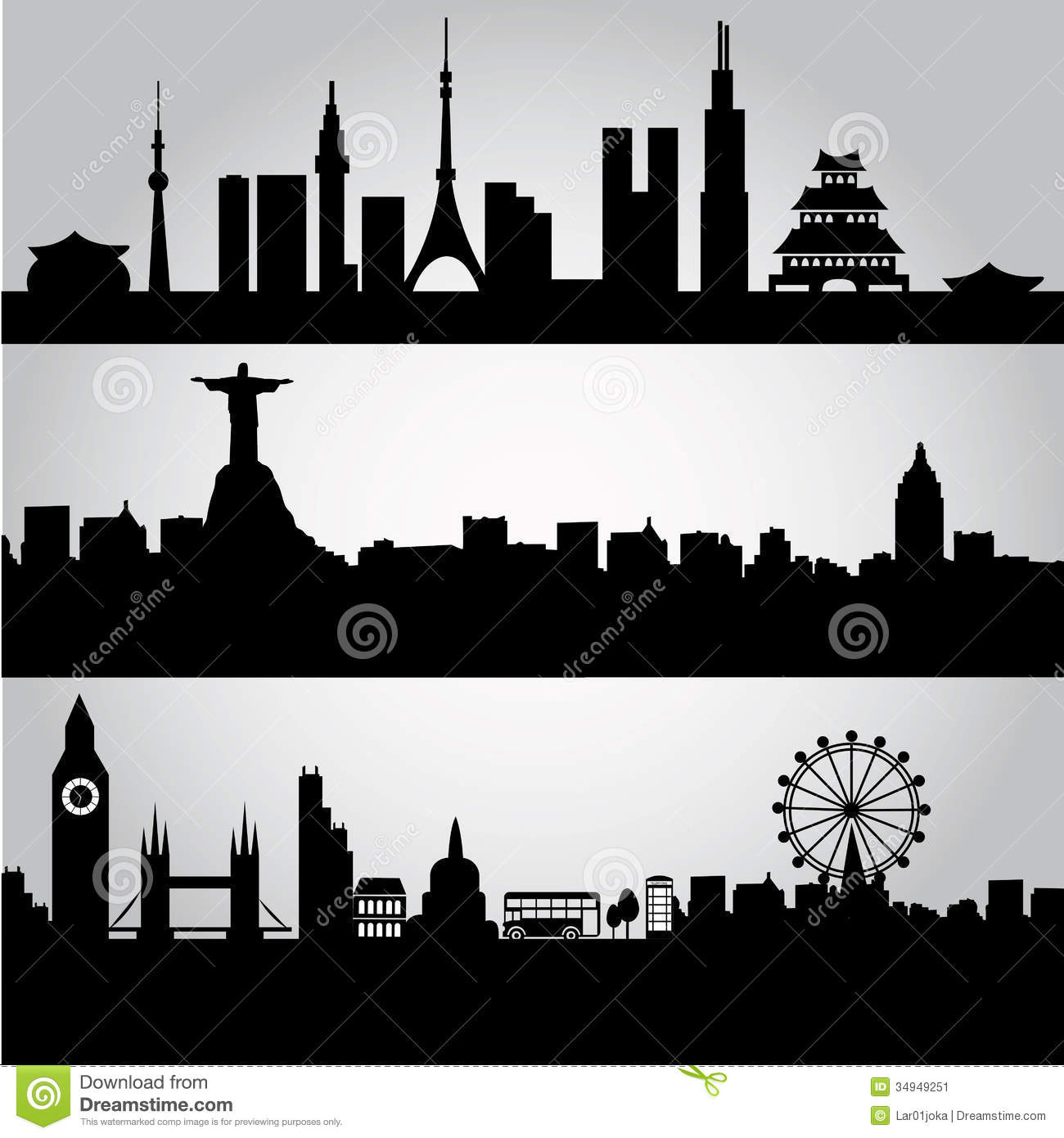 Big Cities Stock Illustration Of Metropolis
