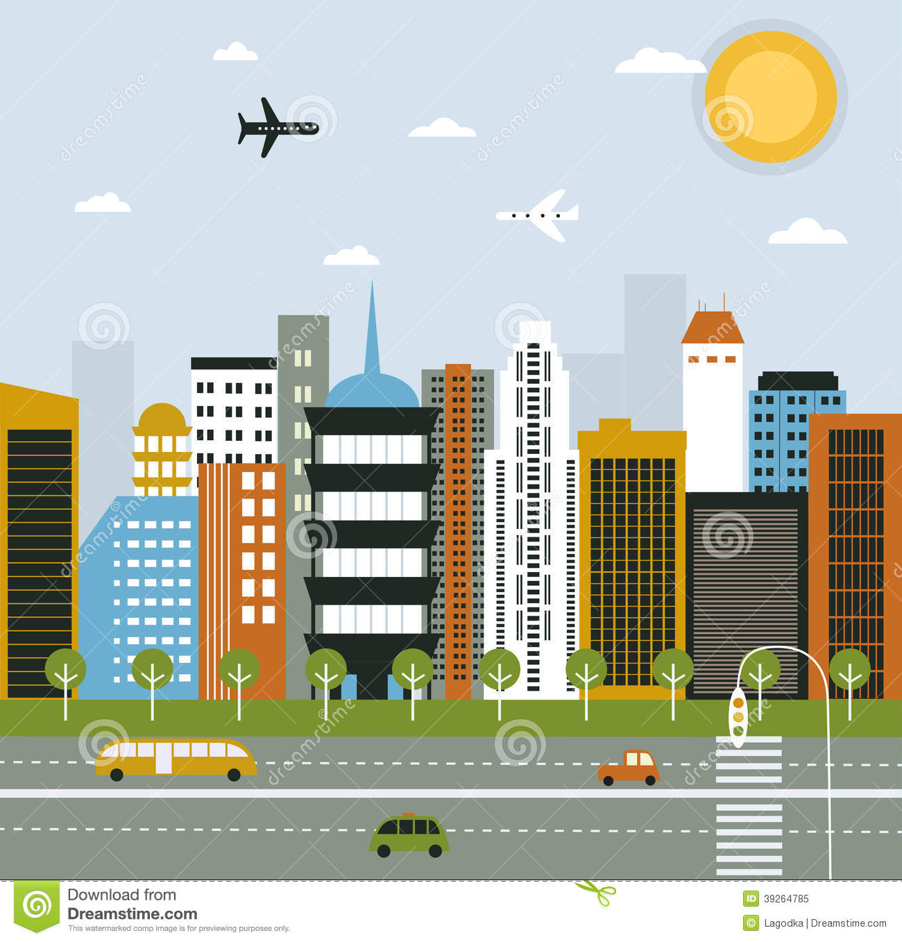 Big City Life Stock Vector Image 39264785