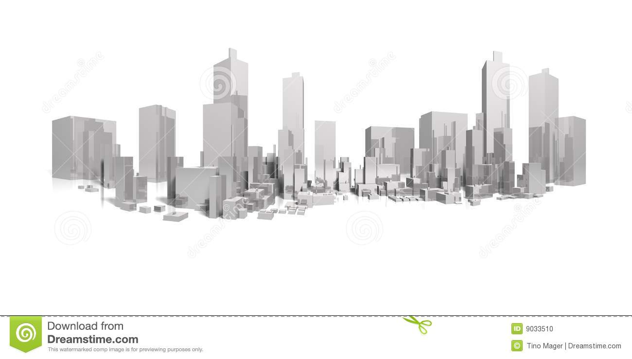 Download Big city long panorama stock illustration. Illustration of construction - 9033510