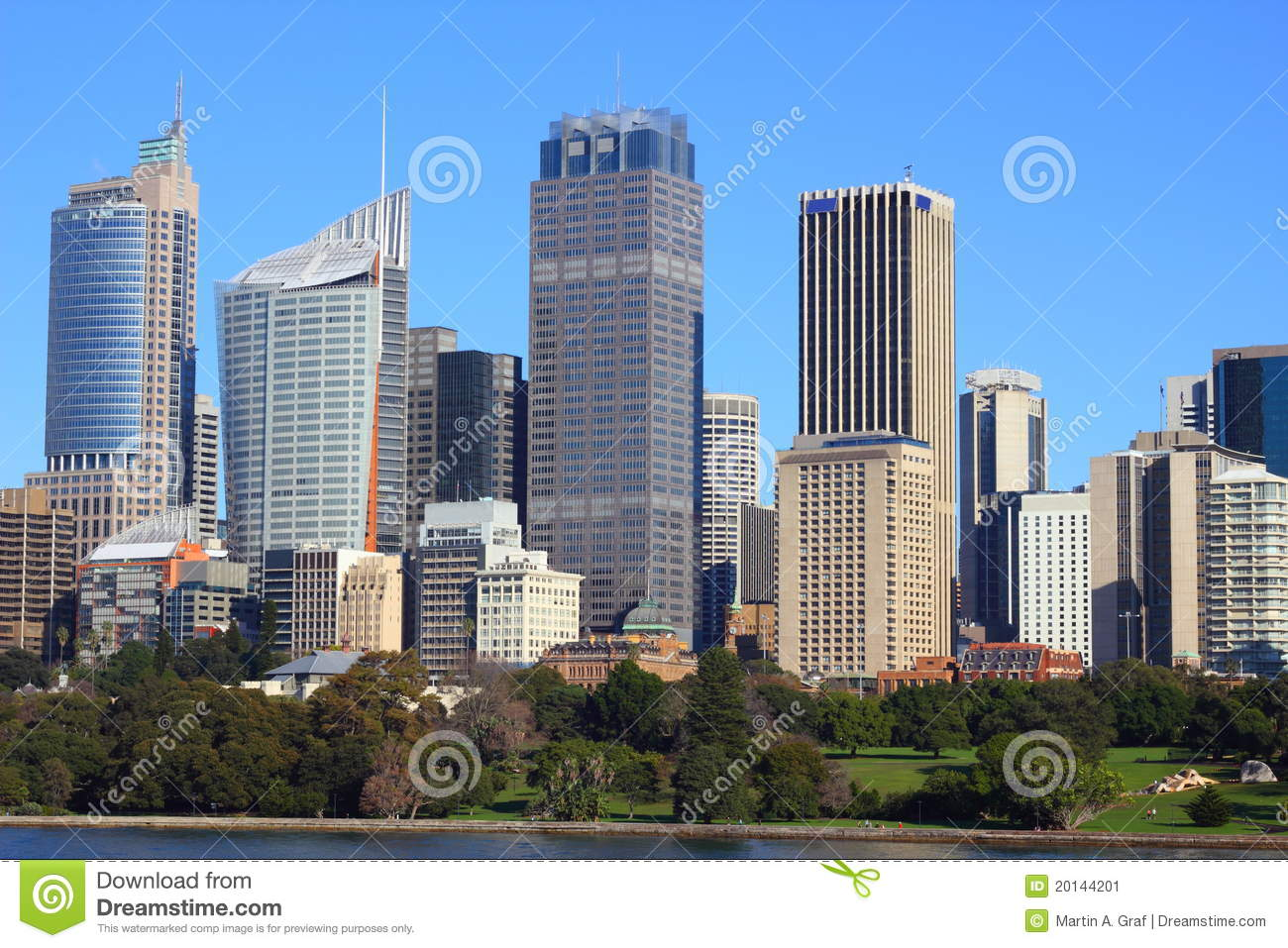 Metropolis Skyline At Park Stock Image Image Of Rise