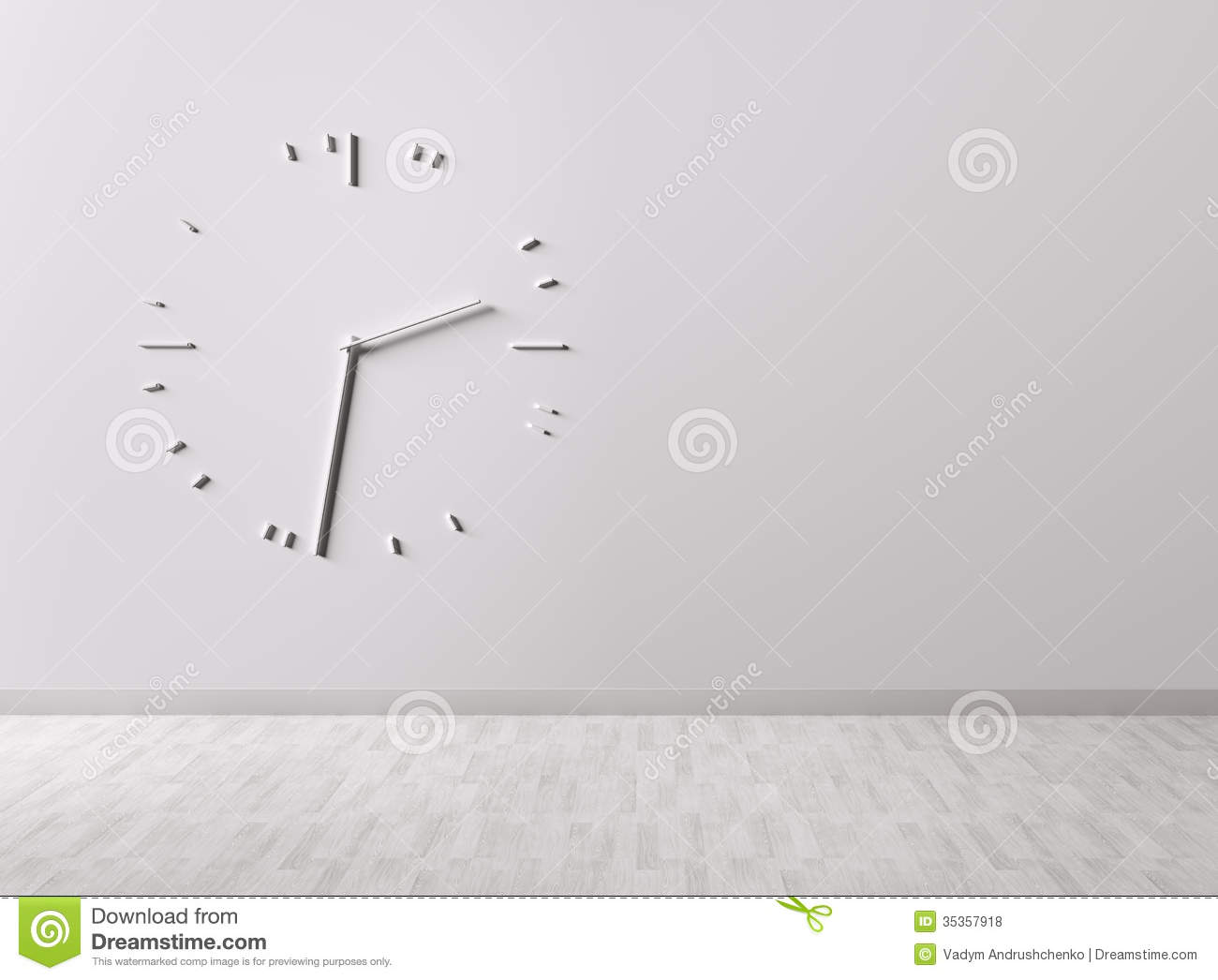 Big Clock On The Wall Stock Illustration Image Of Hour
