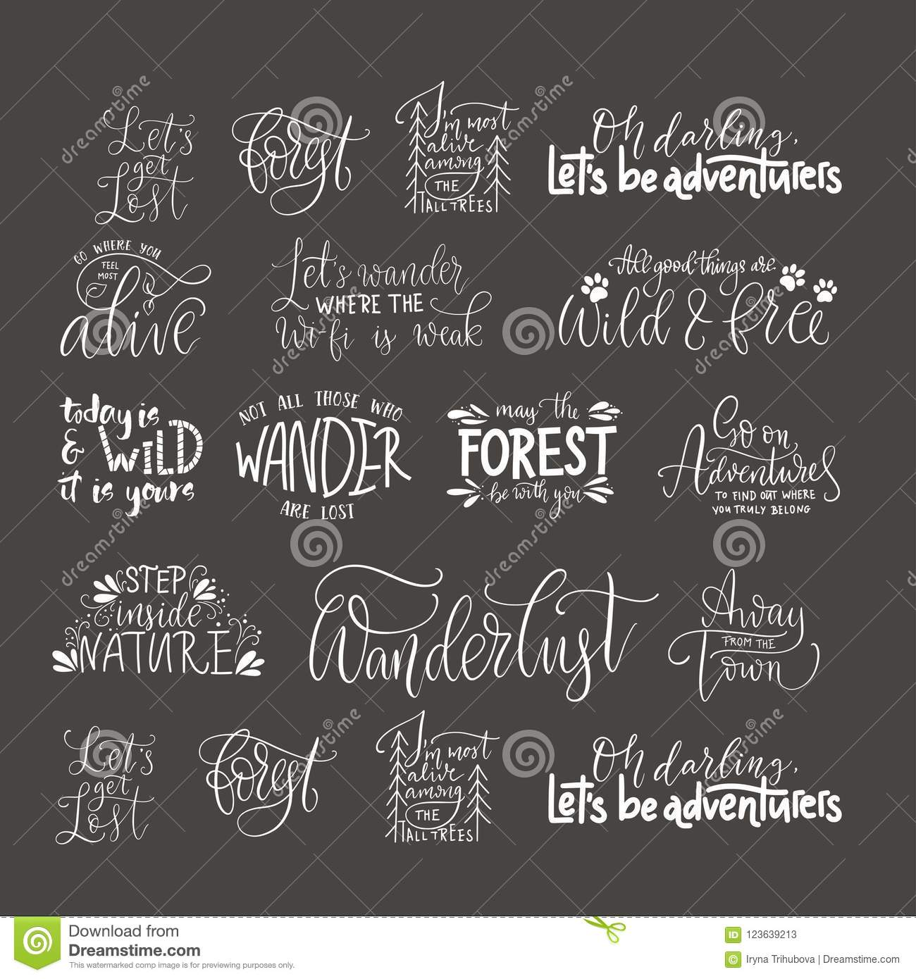 Big Collection Of Adventure, Outdoors And Travel Vector ...