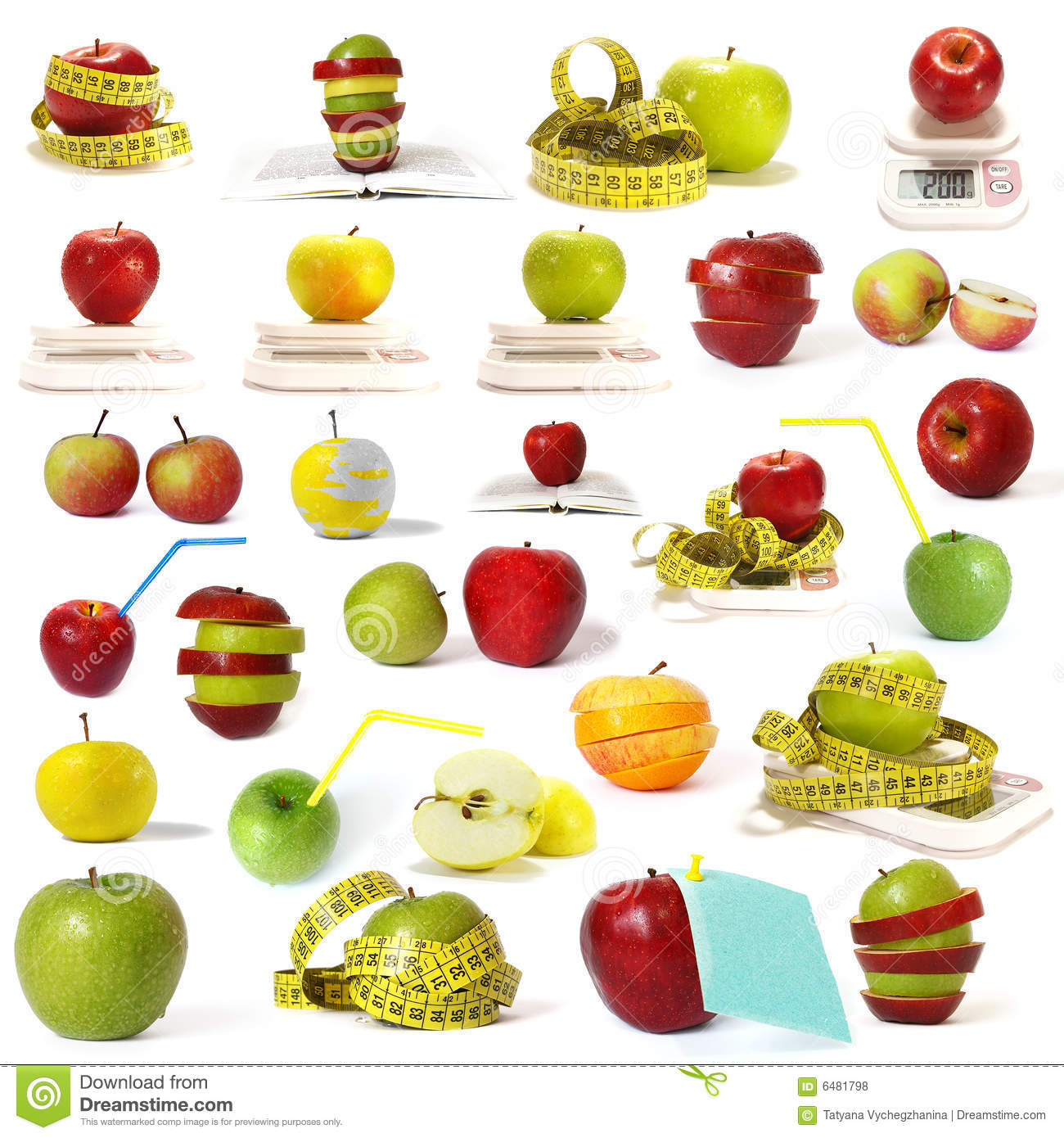 Big collection of apples