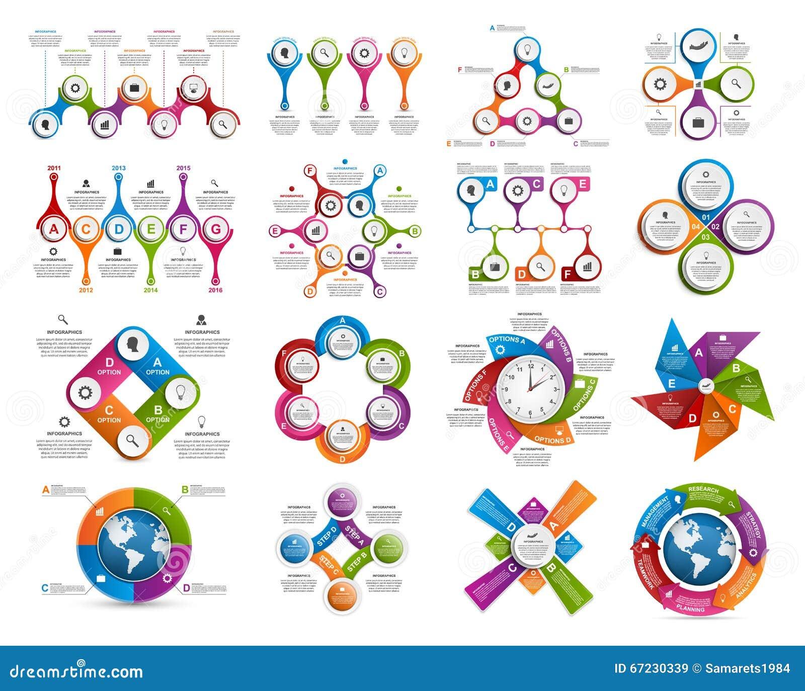100 Infographic Elements Vector