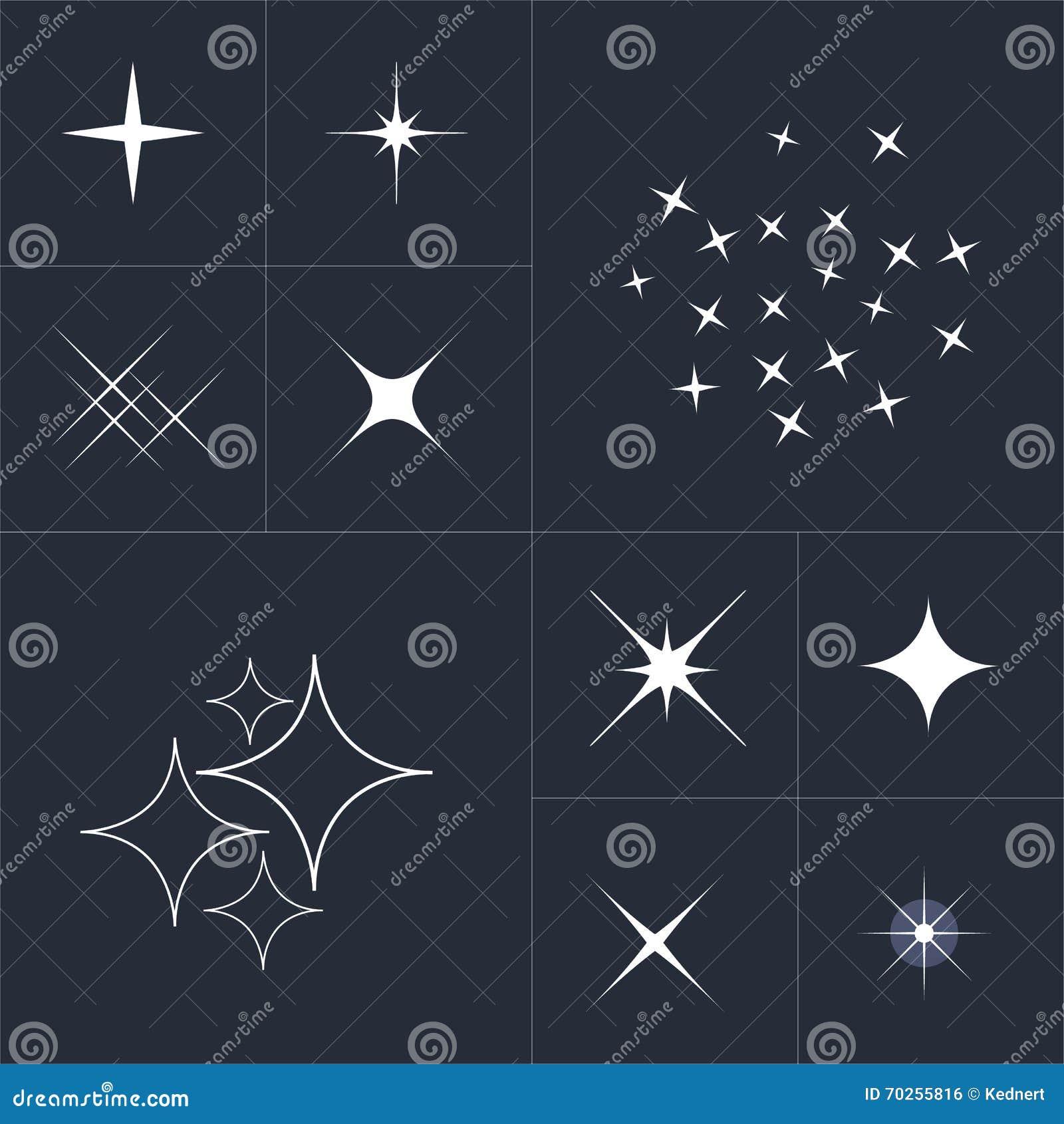 Big Collection Of Sparkle Vector Sparkles White Symbols Sparkle